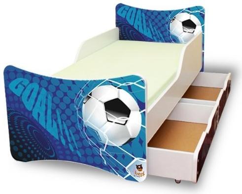 Best for Kids 'Goal' Kinderbett mit Schaummatratze 90x200 blau Bild 1