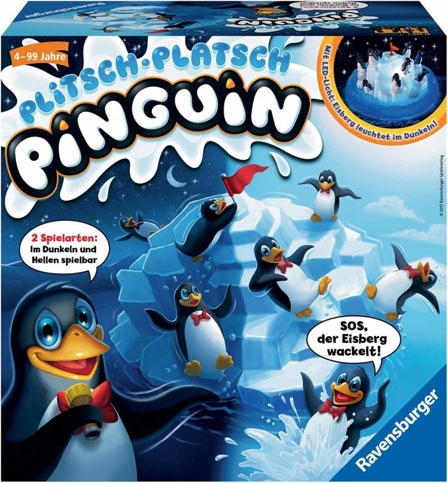 Ravensburger - 21325 - Plitsch Platsch Pinguin - großer Spielspaß mit Geschicklichkeitsfaktor für Kinder und Erwachsene - Klassiker für 1 bis 5 Spieler ab 4 Jahren Bild 1