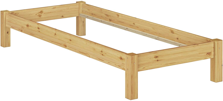 Erst-Holz Einzelbett Kiefer natur 80x200 Bild 1