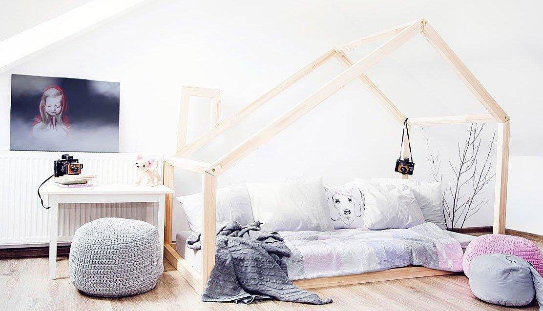 Best For Kids Hausbett Bergen 90x160 natur Bild 1
