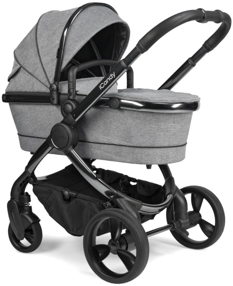 iCandy 'Peach' Kombikinderwagen 2020, Phantom-Light Grey, inkl. Converter Base, 2te Babywanne, 2ter Sportsitz, Regenschutz, Ober und Unter Babyschaleadapter Bild 1