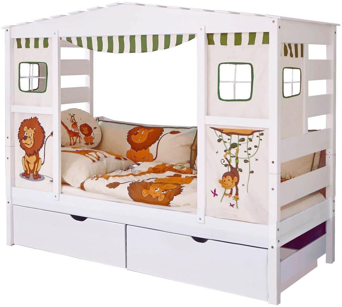 Ticaa 'Safari' Hausbett weiß inkl. Bettkasten 'Melanie' Bild 1