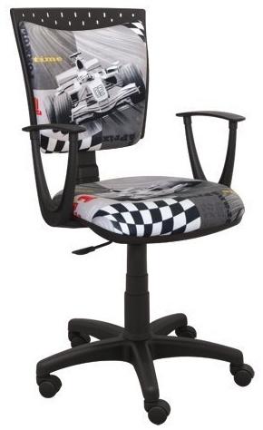 Best for Kids 'Formel1' Kinderschreibtischstuhl grau Bild 1