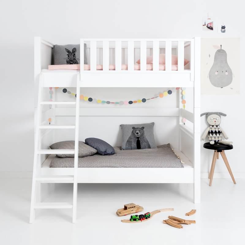 Sanders Bett Etagenbett mit schräger Leiter Fanny 90x160 cm Bild 1