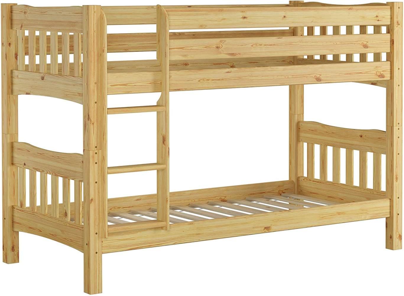 Erst-Holz Etagenbett Kiefer 90x200, natur Bild 1