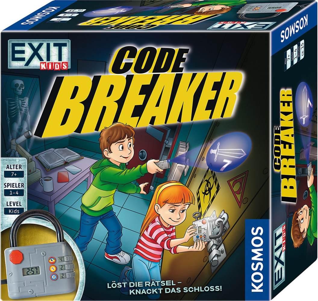KOSMOS 697921 EXIT Kids-Code Breaker Löst die Rätsel-knackt das Schloss Brettspiel für Kinder, Schwarz Bild 1