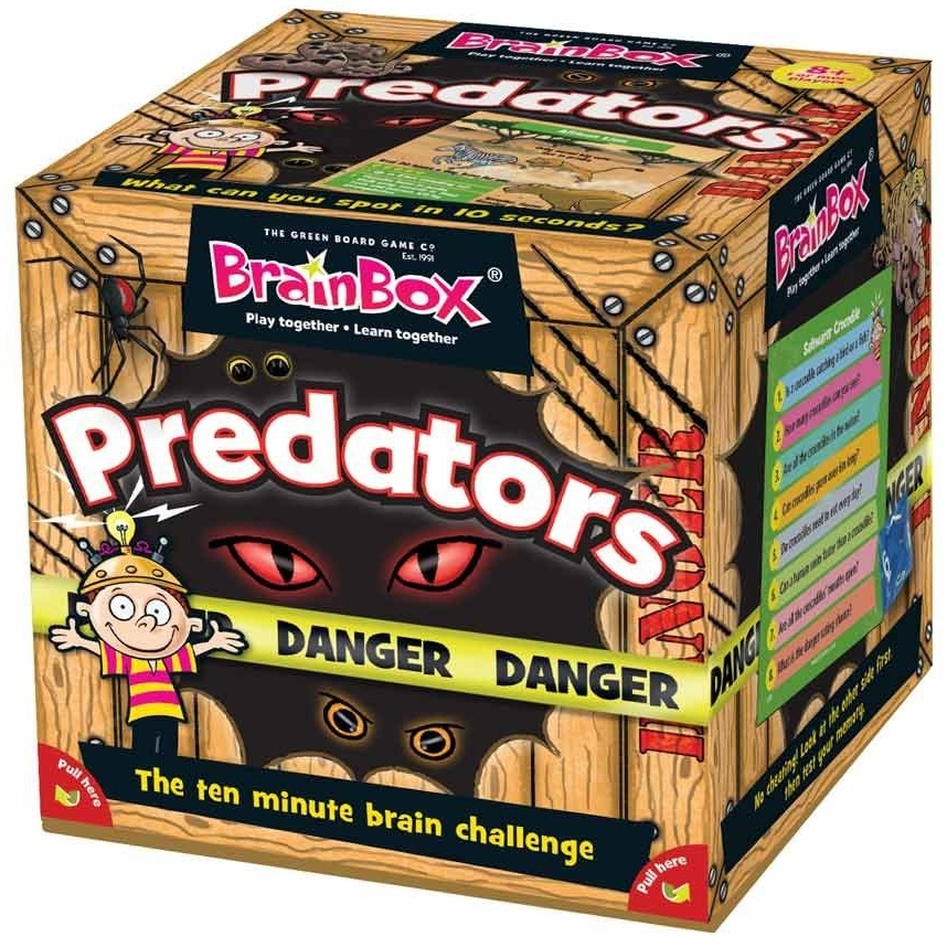 Green Board Games GRE90053 Brainbox Predators Spiel Bild 1