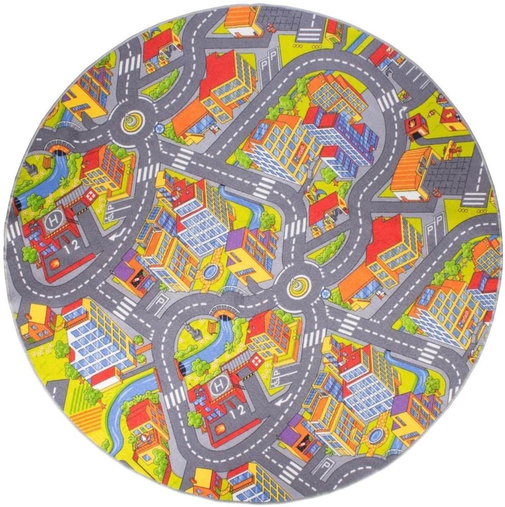 misento 'Big City' Kinderteppich 200 cm rund Bild 1