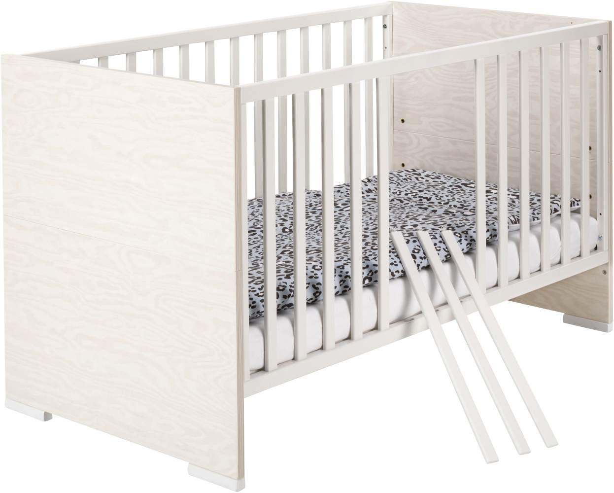 Schardt 'Capri White' Kombi-Kinderbett 70x140 cm Bild 1