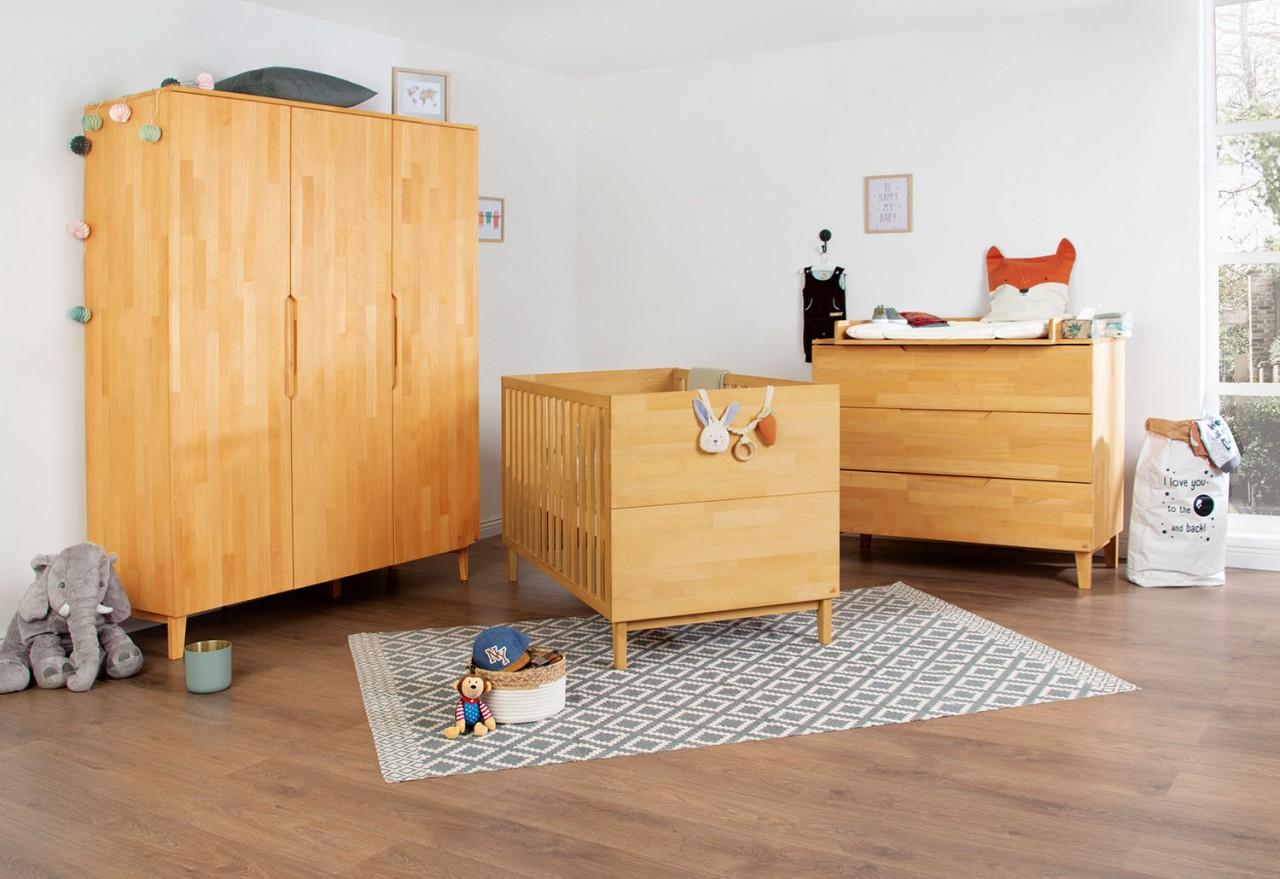 Pinolino 'Skogen' 3-tlg. Babyzimmer-Set natur Bild 1