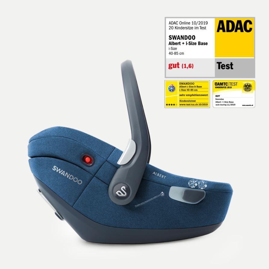 Swandoo Babyschale Albert i-Size 2020 inkl. Isofix-Base Blueberry 0-13 kg (Gruppe 0+) Bild 1