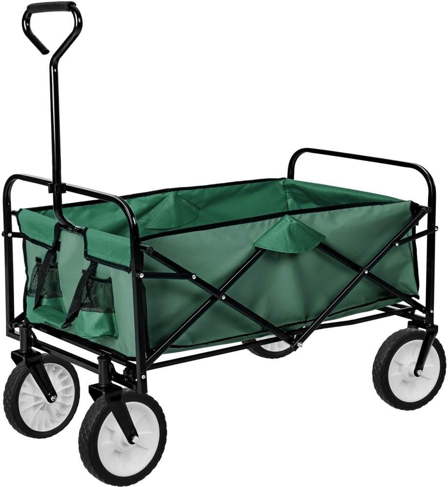 tectake Faltbarer Bollerwagen Grün Bild 1