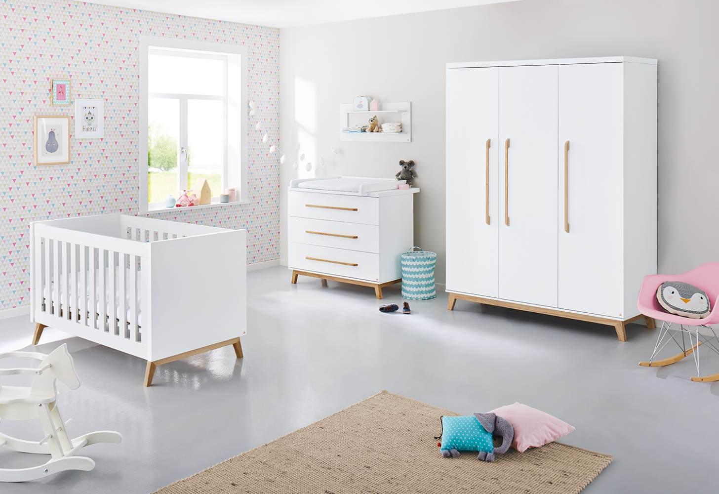 Pinolino 'Riva' 3-tlg. Babyzimmer-Set weiß breit, groß Bild 1