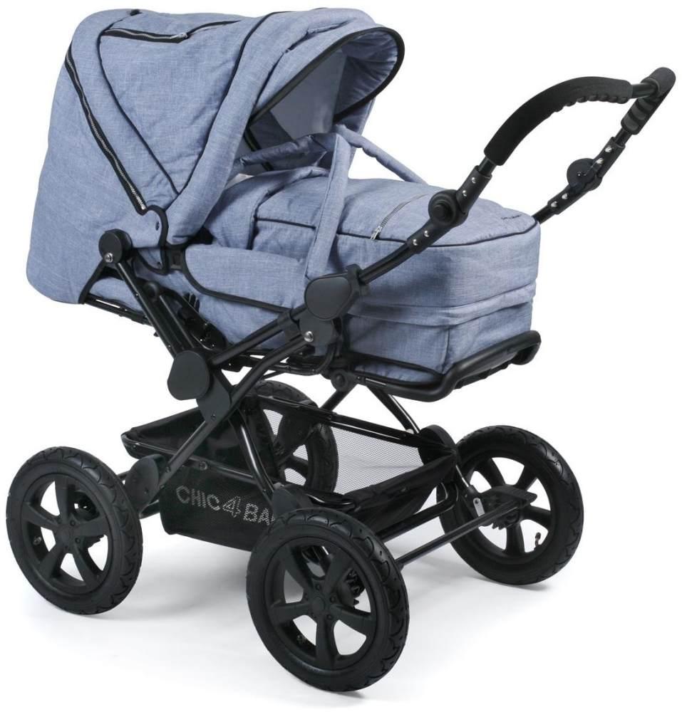 CHIC 4 BABY 100 55 Kombi-Kinderwagen Viva, Jeans hellblau/blau Bild 1