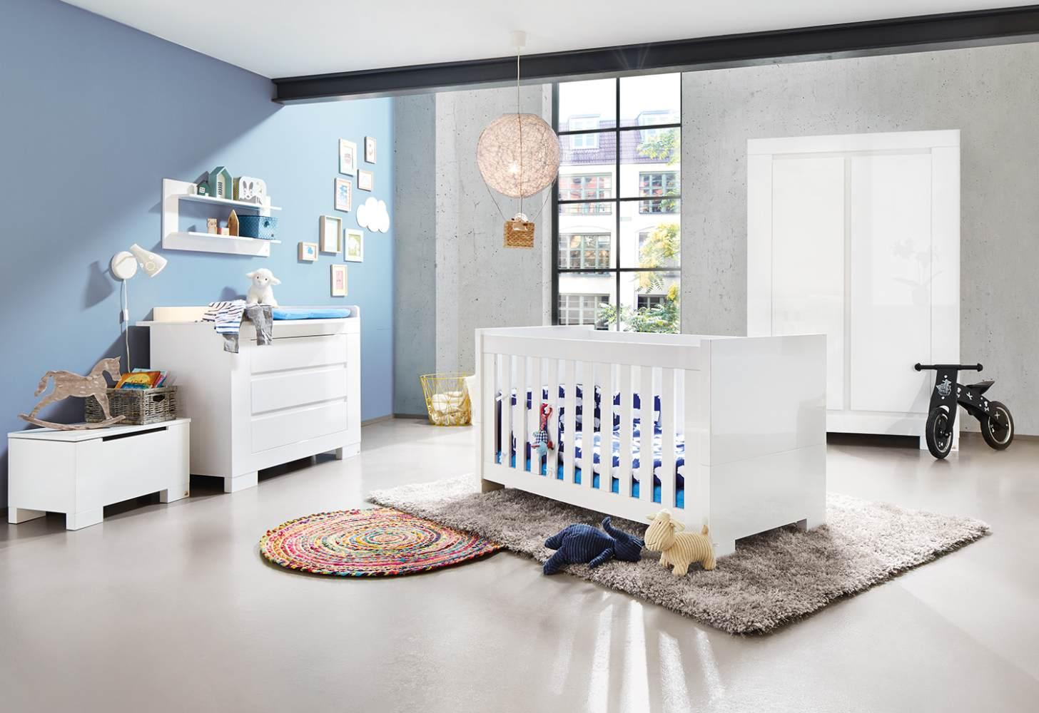 Pinolino 'Sky' 3-tlg. Babyzimmer-Set weiß Bild 1