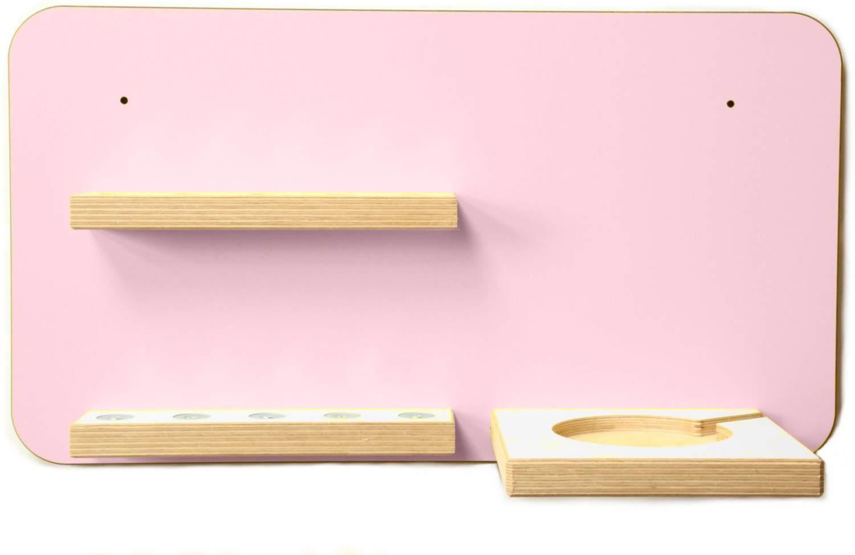 Schreinerei Linden 'Rechteck' Tonie Regal mit Musikboxhalter, rosa Bild 1