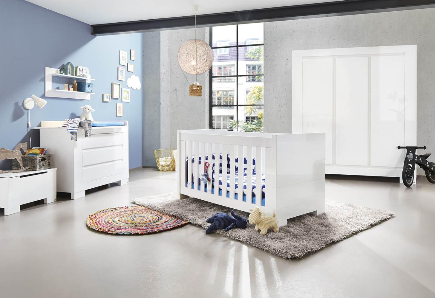 Pinolino 'Sky' 3-tlg. Babyzimmer-Set weiß, 3-türig Bild 1