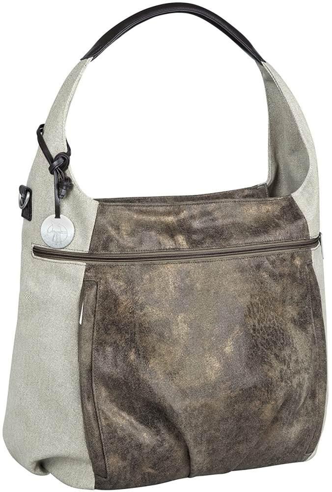 LÄSSIG Baby Wickeltasche Babytasche Stylische Tasche inkl. Wickelzubehör/Casual Hobo Bag olive / beige Bild 1