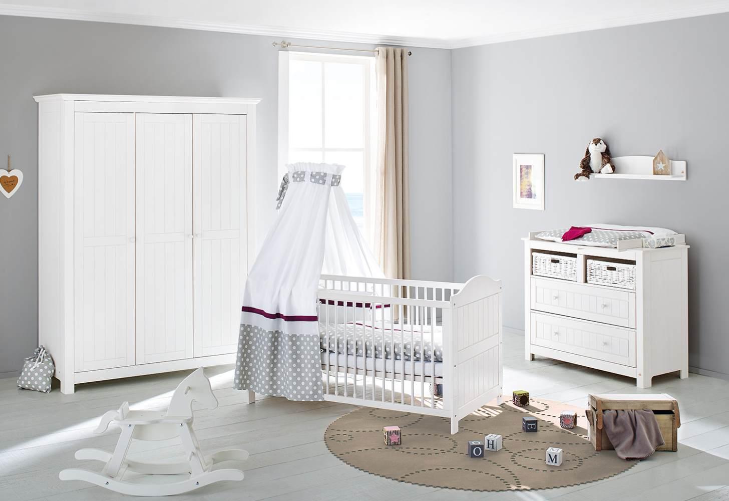 Pinolino 'Nina' 3-tlg. Babyzimmer-Set weiß, 3-türig Bild 1
