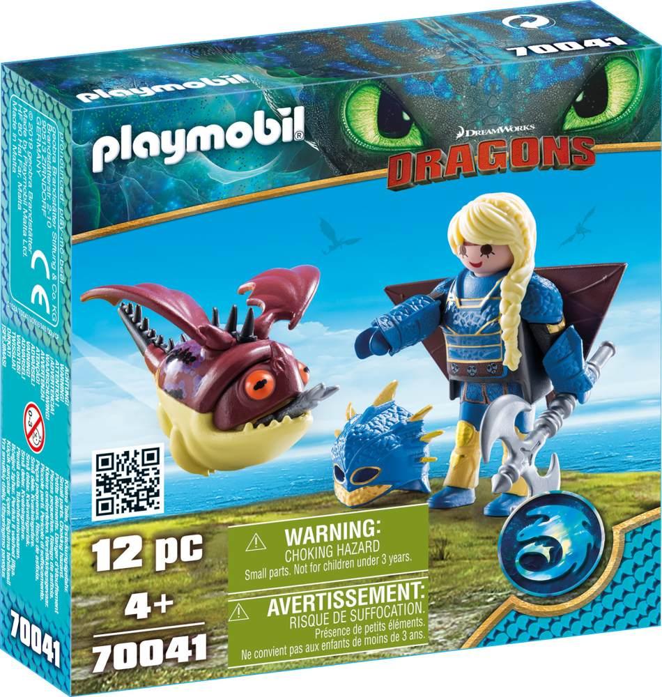 Playmobil Dragons 70041 'Astrid mit Fluganzug und Nimmersatt', 12 Teile, ab 4 Jahren Bild 1