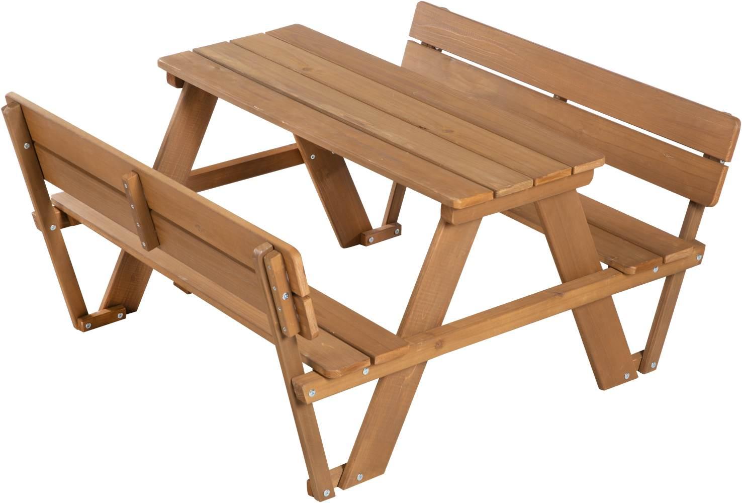 Roba 'PICKNICK for 4' Kindersitzgruppe Deluxe, mit Lehne braun Bild 1