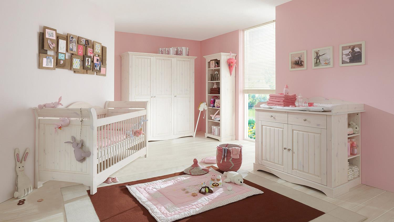 Steens 'LOTTA' 4-tlg. Babyzimmer-Set weiß/white wash Bild 1