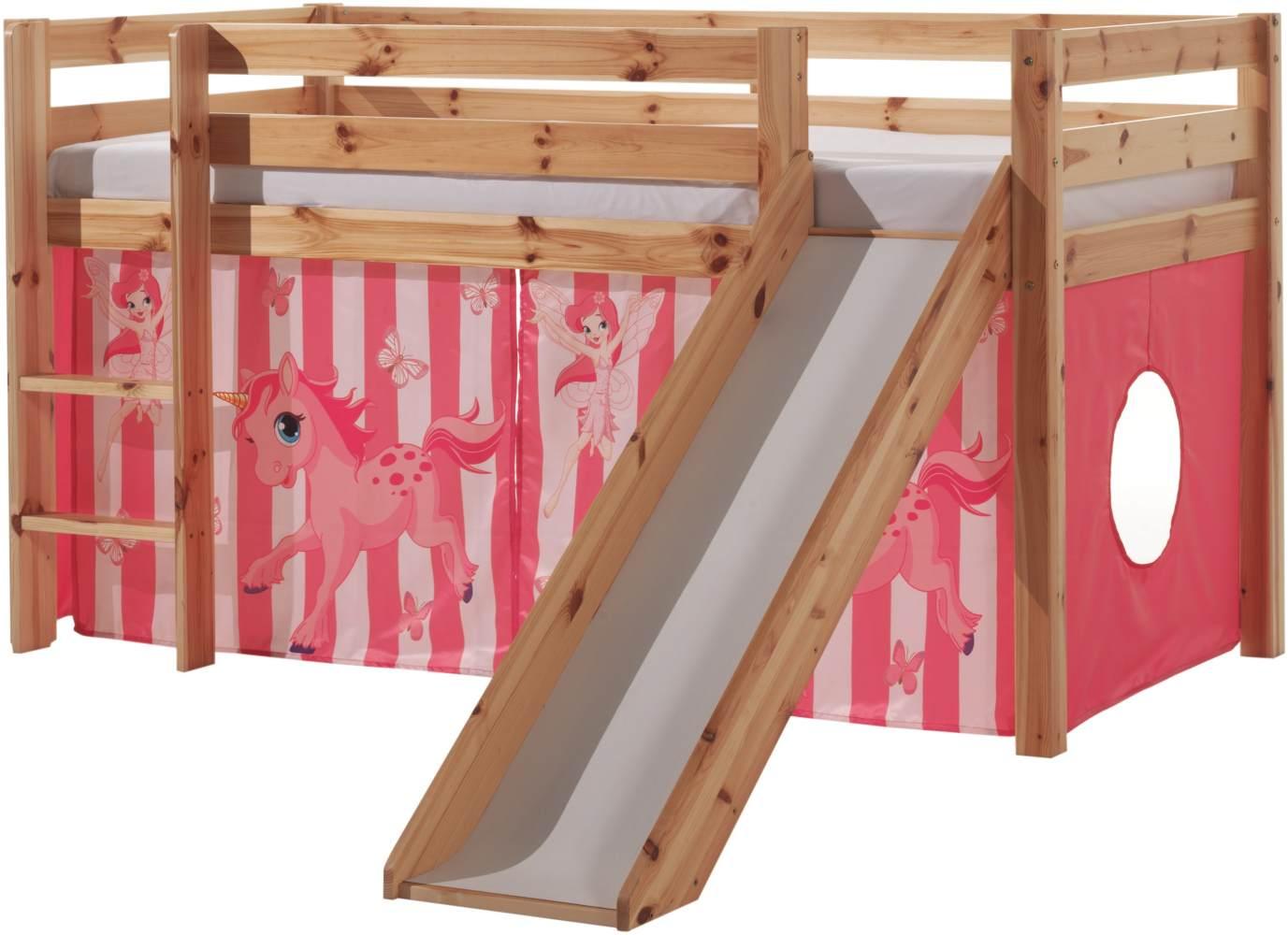 Vipack 'Pferde' Spielbett Pino mit Rutsche und Textilset Bild 1