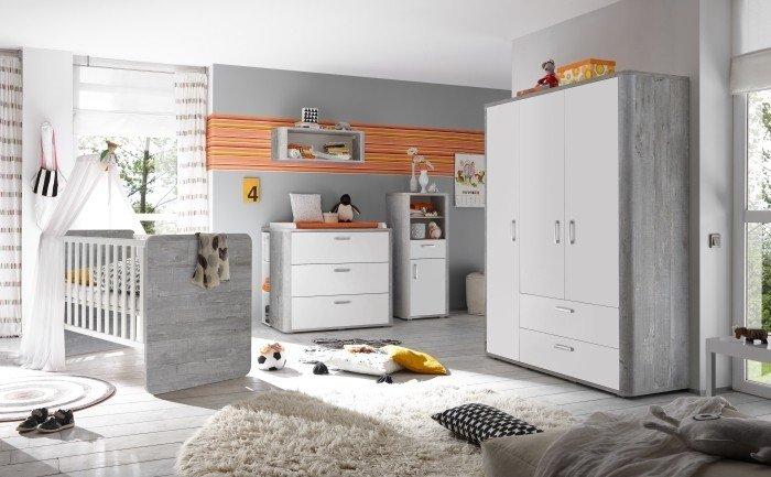 Babyzimmer Frieda 4 teilig von Mäusbacher in Vintage Wood grey Bild 1