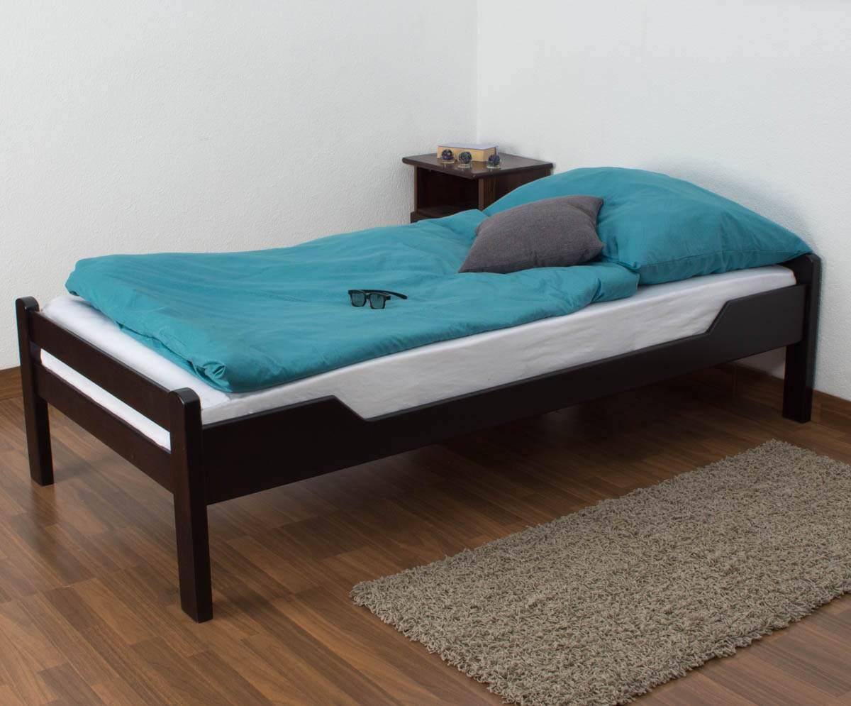 Steiner Einzelbett 'Easy Premium Line K1/1n dunkelbraun, 90x200 cm Bild 1