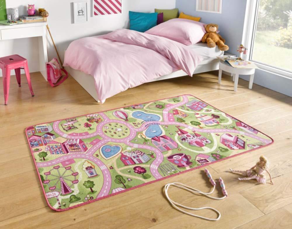 Hanse Home Spielteppich Kinderteppich Sweettown rosa | 102378 160x240 cm Bild 1