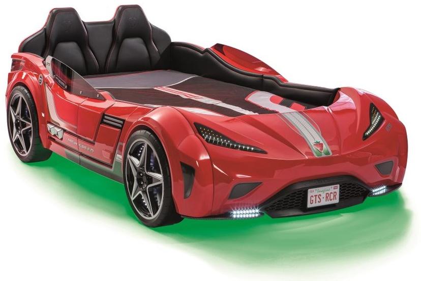 Cilek Autobett GTS 100x190 cm Rot inkl. Matratze Bild 1