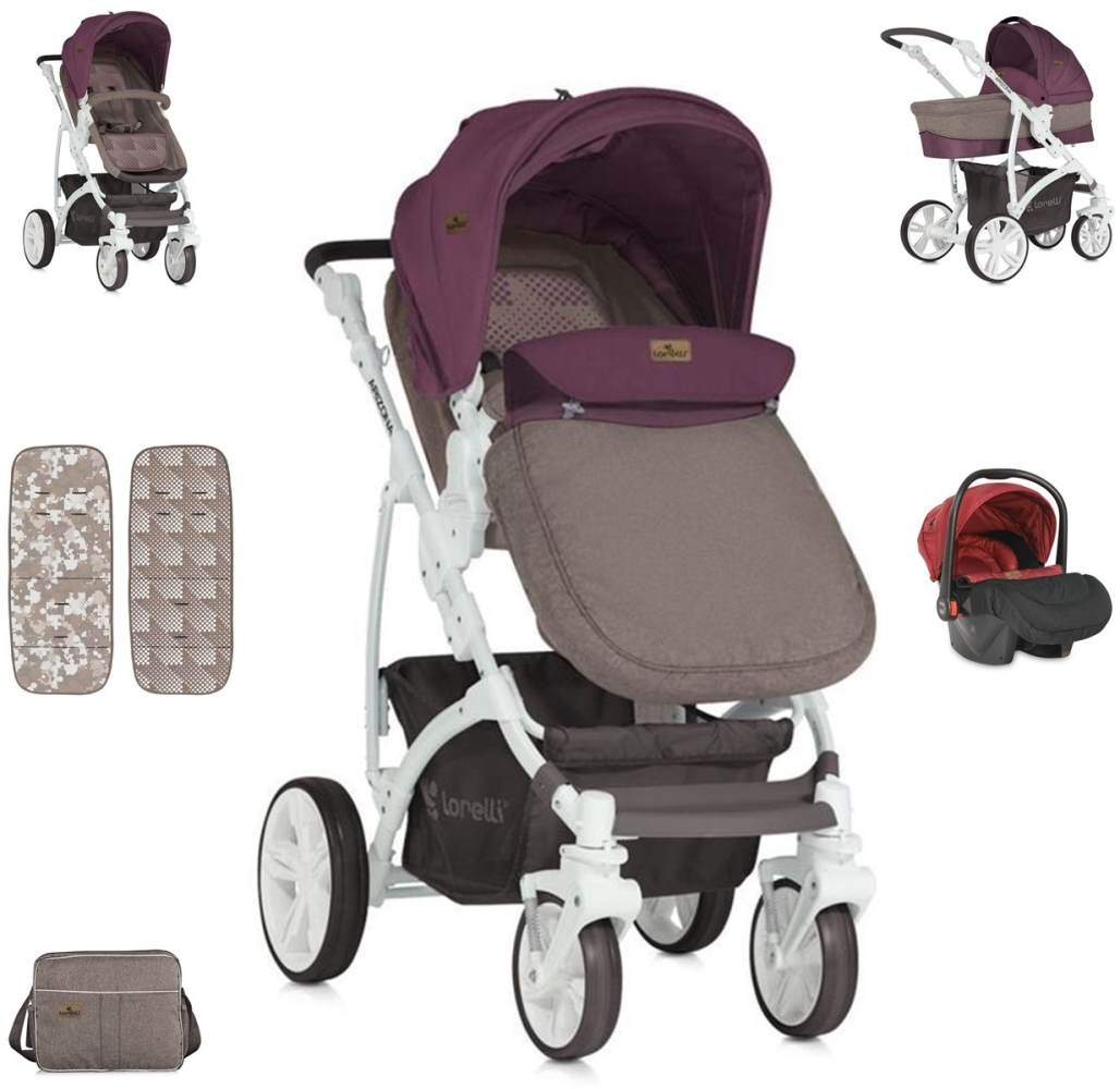 Lorelli 'Arizona' Kinderwagen 3 in 1 Rot Bild 1