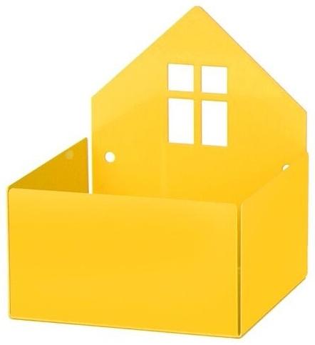 """Aufbewahrung für Pixibücher, """"Town Box"""" in Gelb, aus Metall, von roommate Bild 1"""