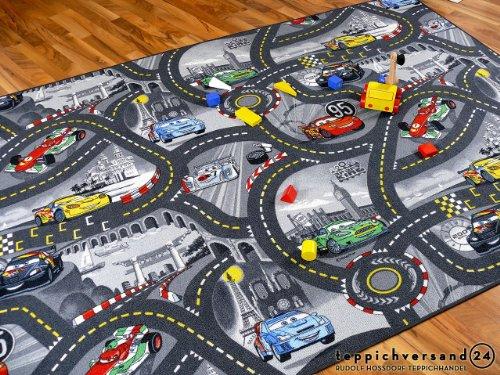 Snapstyle Spiel Kinderteppich Disney Cars Grau 300x300 Bild 1