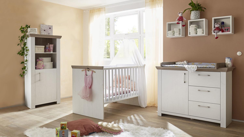 Babyzimmer NEW YORK 6-tlg in Anderson Pine Nelson Eiche Bild 1