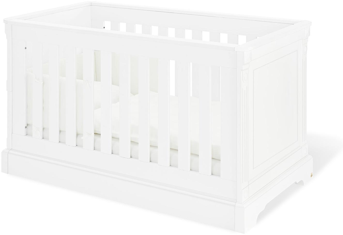 Pinolino 'Emilia' Kombi-Kinderbett weiß, inklusive Lattenrost und Umbauseiten Bild 1