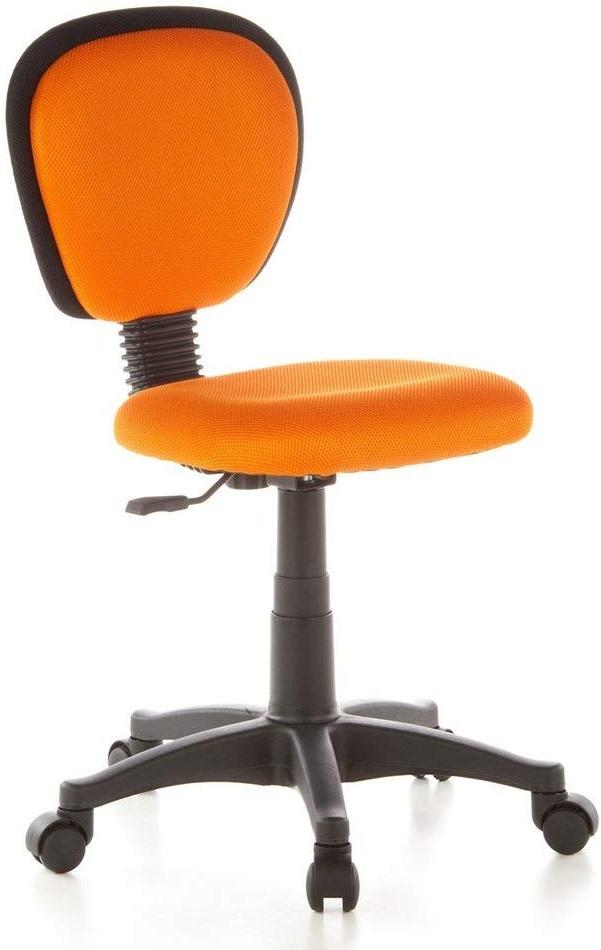 hjh OFFICE 670140 Kinderdrehstuhl KIDDY TOP Netzstoff Orange Kinderbürostuhl mit Rückenlehne, höhenverstellbar Bild 1