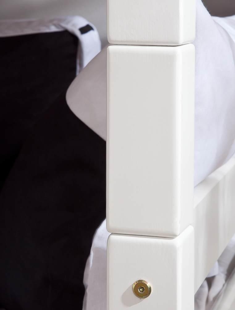 Relita 'Beni' Etagenbett 90x200 cm, weiß, Buche massiv, inkl. Rollroste Bild 1