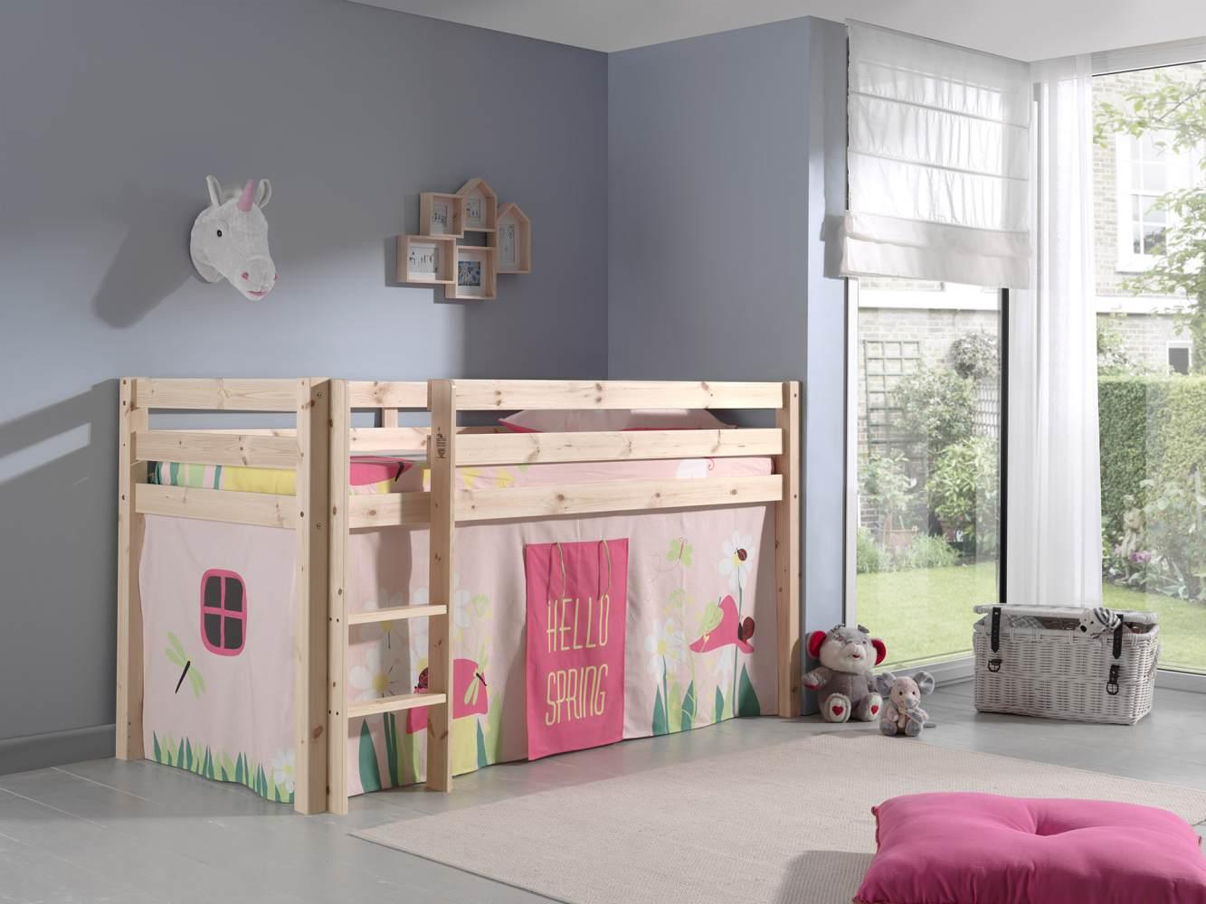 """Spielbett Pino mit Textilset Vorhang """"Spring"""" Bild 1"""