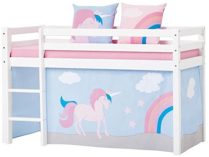 HOPPEKIDS Unicorn Vorhang für Spielbett oder Etagenbett 70x160cm 36-2551-LR-07M Bild 1