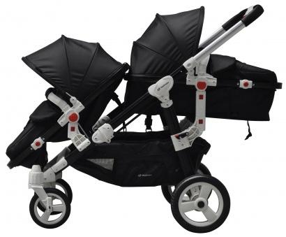 BabyFiveStar Geschwisterwagen Black (Schwarzes Gestell) Bild 1
