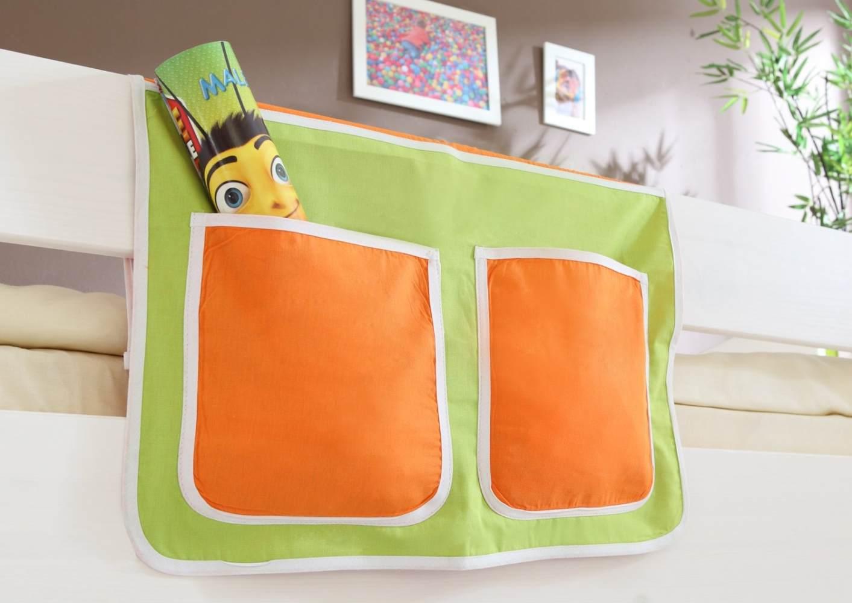 Bett-Tasche - grün-orange Bild 1