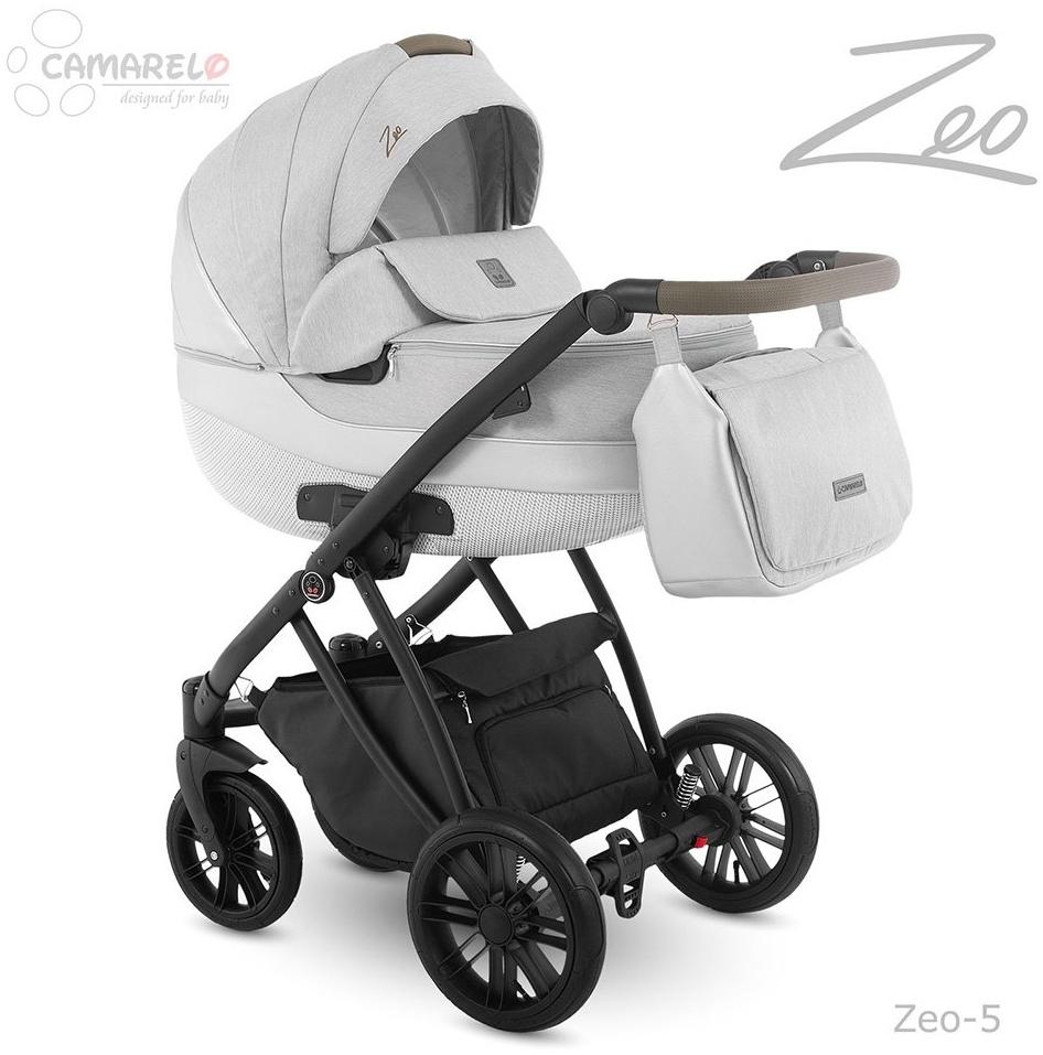 Camarelo Zeo - 3in1 Kombikinderwagen - Zeo-5 hellgrau/ weiss Bild 1