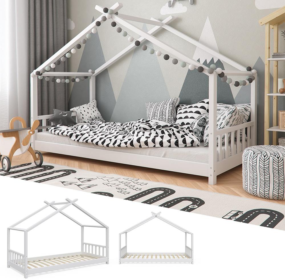 VitaliSpa 'Design' Hausbett weiß, 90 x 200 cm, Massivholz Bild 1