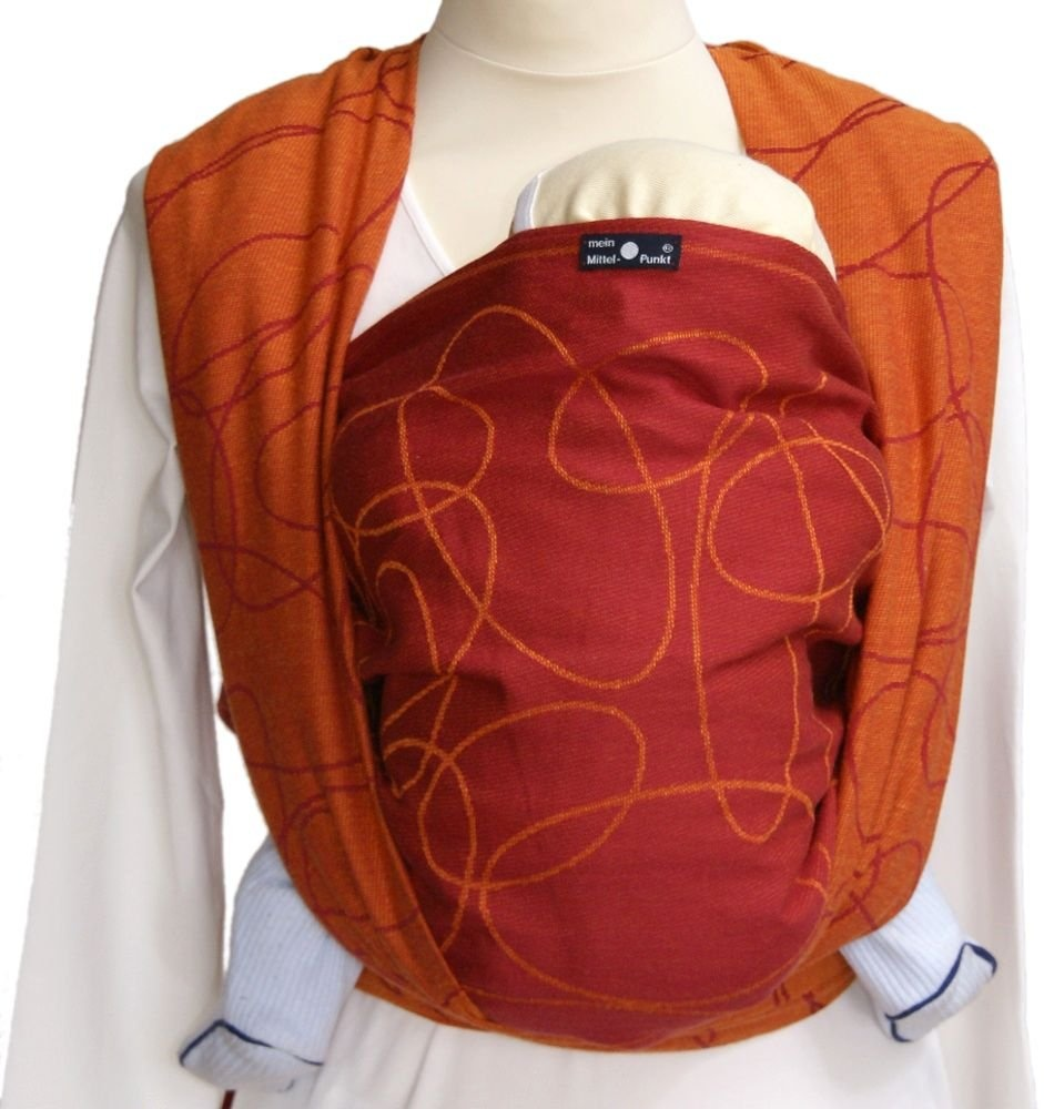 Didymos 461007 Babytragetuch, Modell Ellipsen rubin-mandarine, Größe 7 Bild 1