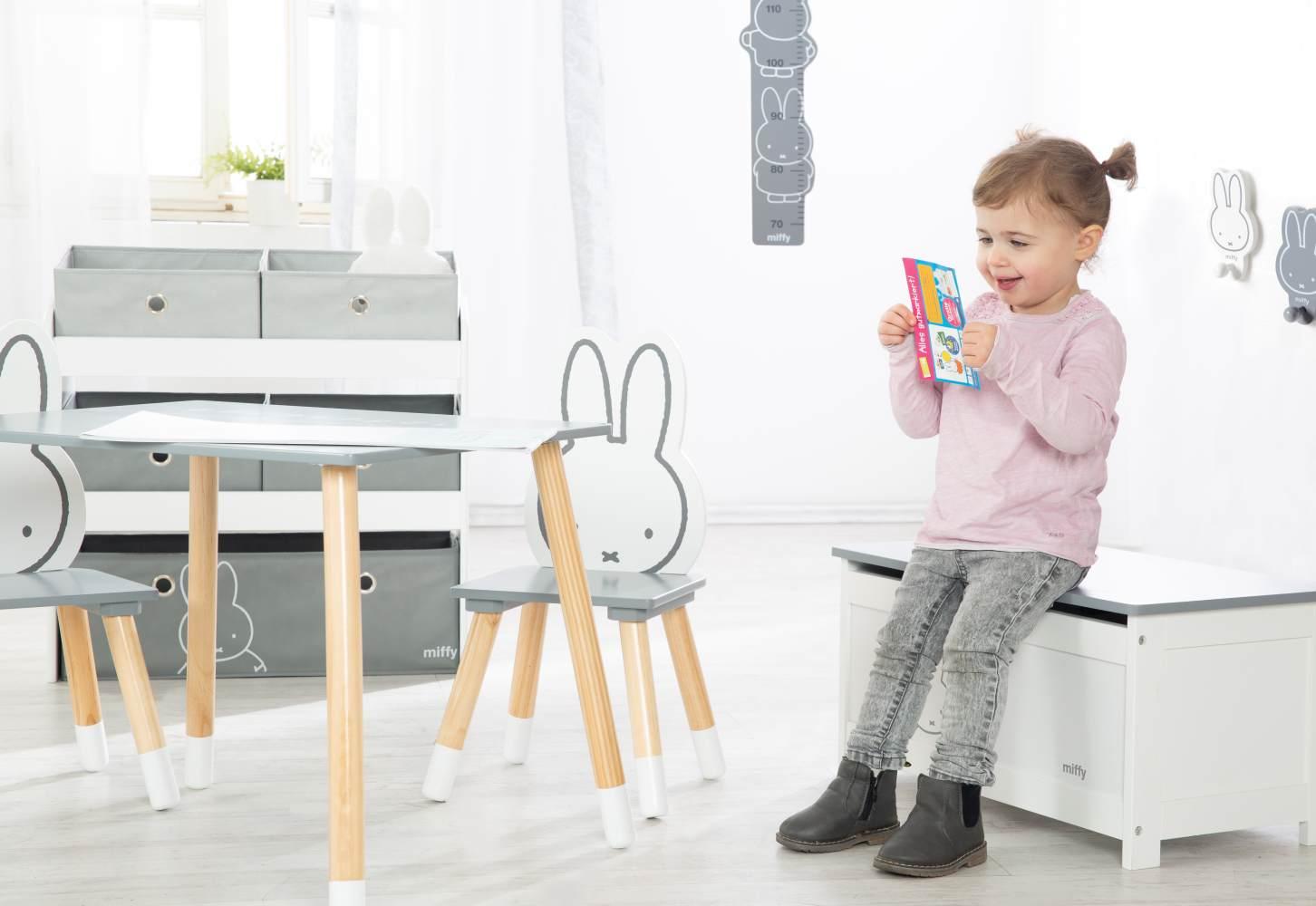 Roba 'Miffy' Spielzeugtruhe weiß/grau Bild 1