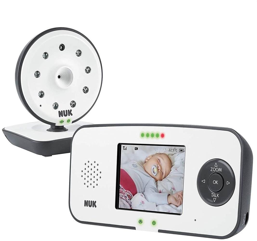 NUK '550VD' Babyphone, mit Kamera und Video Display, Eco-Mode, 18 h Laufzeit, 250 m Reichweite Bild 1