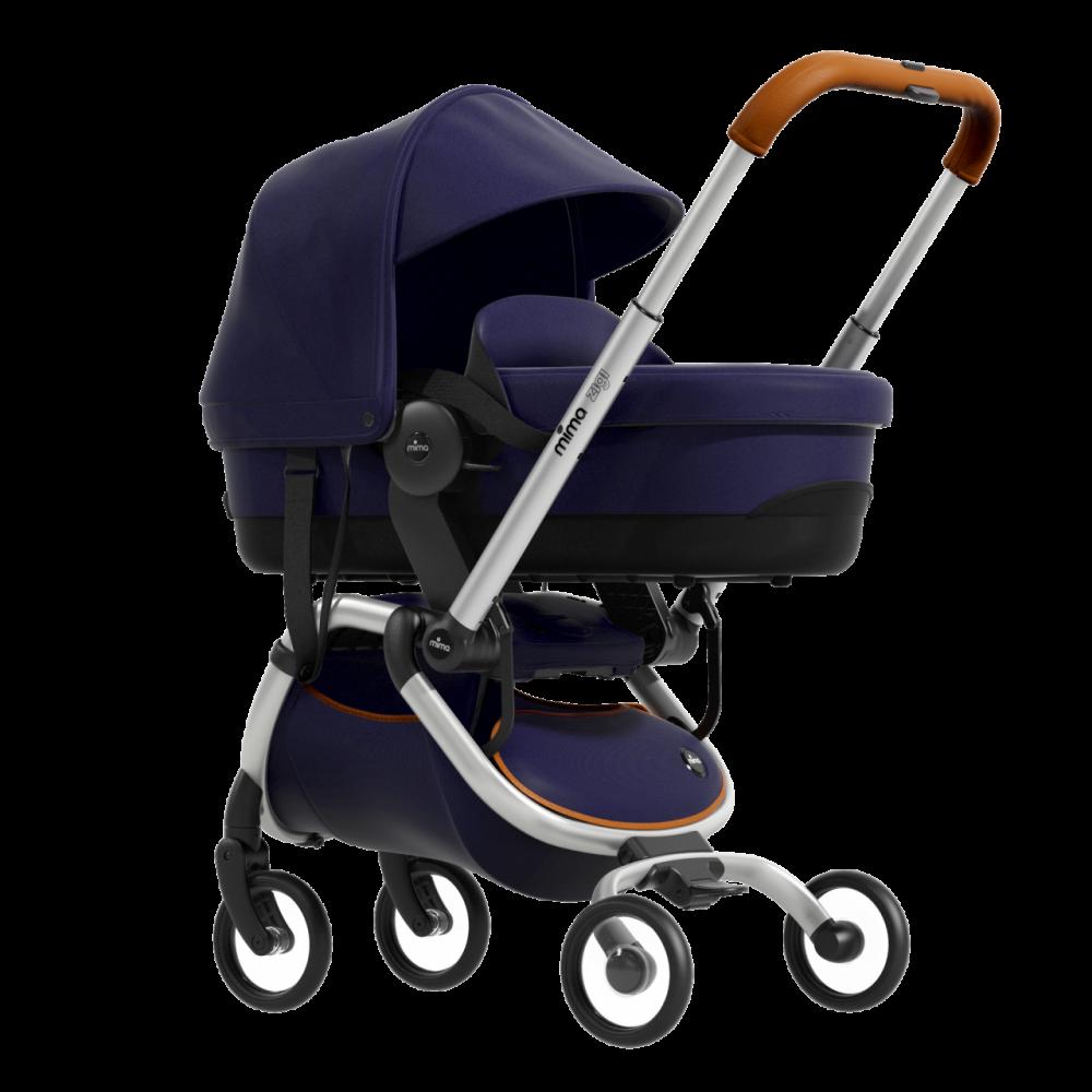 Mima Zigi Buggy + Gratis Babywanne + Adapter + Regenschutz Midnight Blue Bild 1