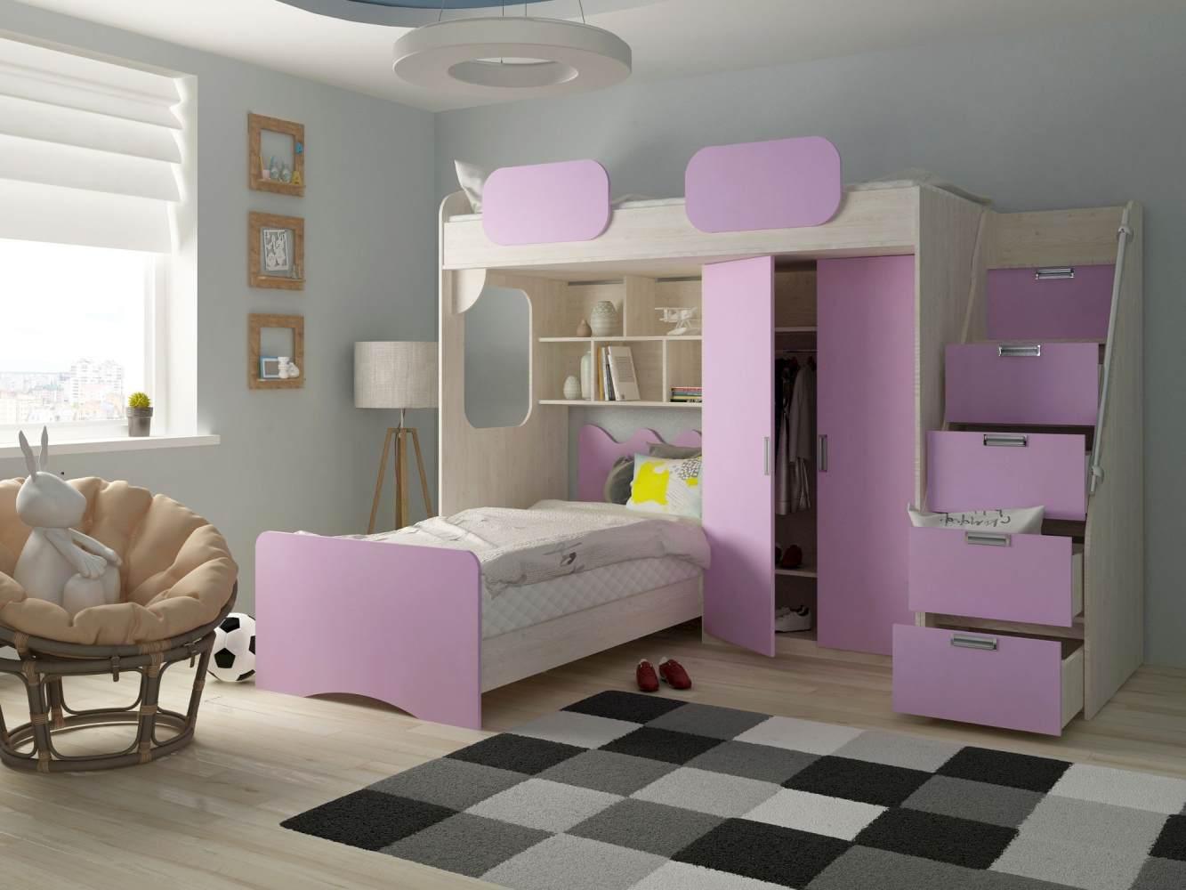 Etagenbett 'Geko' lila Bild 1