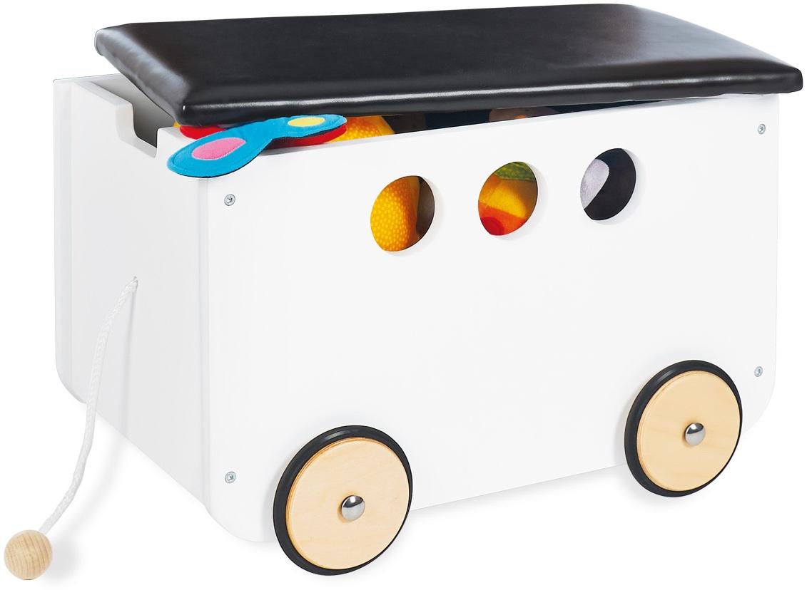 Pinolino 'Jim' Spielzeugkiste weiß, mit Rollen Bild 1